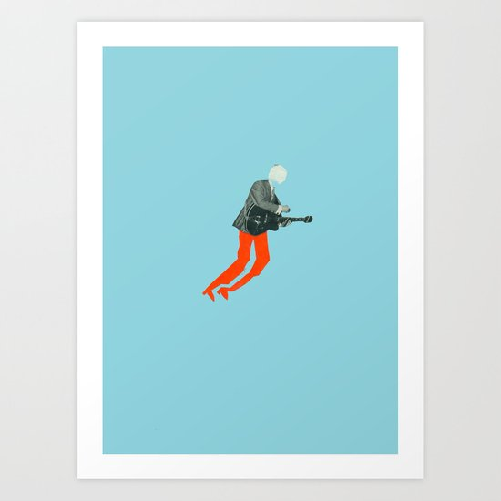 Guitar hero! Art Print