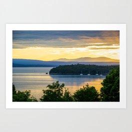 Burlington Sunset Art Print