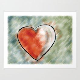 Heart throb Art Print