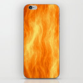 Red flame burning iPhone Skin