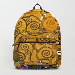 Gustav Klimt Tree Of Life Gold Version Backpack