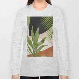 Abstract Art Tropical Leaf 11 Long Sleeve T-shirt