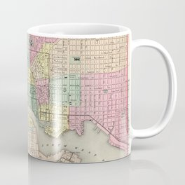 Vintage Map of Baltimore MD (1856) Coffee Mug