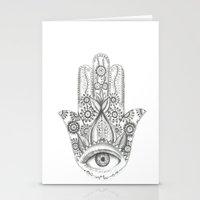 hamsa Stationery Cards featuring Hamsa by Erzaguri