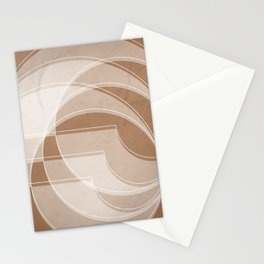 Spacial Orbiting Spiral in Cinnamon Stationery Cards