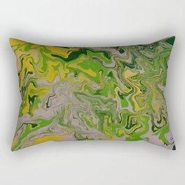 green mess abstract Rectangular Pillow