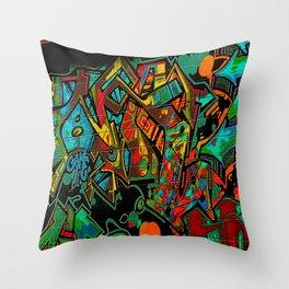 Street Art ATL Throw Pillow