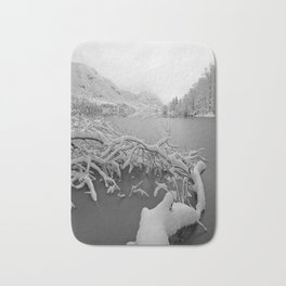 Wintry Lake Bohinj Bath Mat