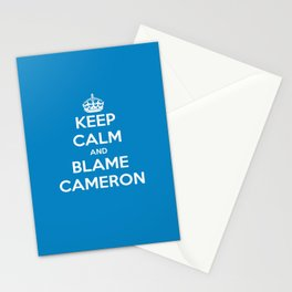 Keep Calm and Blame Cameron Stationery Cards