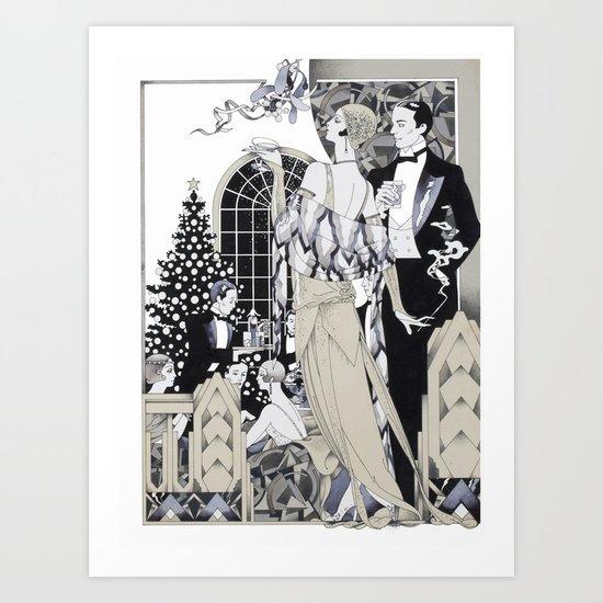 Deco Christmas Art Print