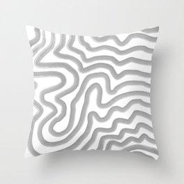 Watercolor strokes Throw Pillow