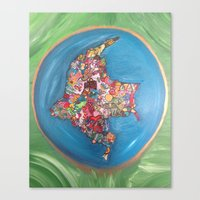 colombia Canvas Prints featuring Colombia Verde by MikAnsart