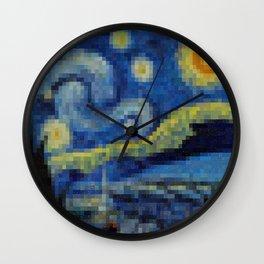 Pixel Starry Night Wall Clock