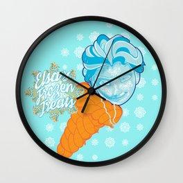 Elsa's Frozen Treats Wall Clock