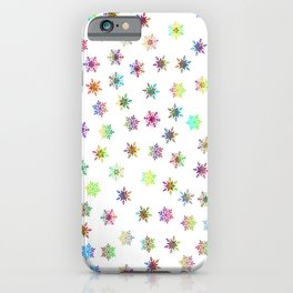 Snowflakes snow winter ice cold iPhone Case