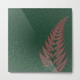 Fall Fern Fractal Metal Print