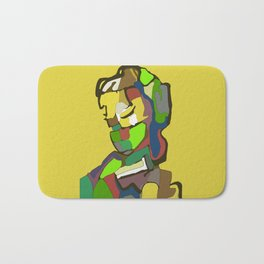 Woman with scarf Bath Mat
