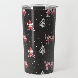 Santa Elf Charcoal Red   #Christmas #holiday Travel Mug