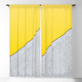 Yellow & Gray Abstract Background Blackout Curtain