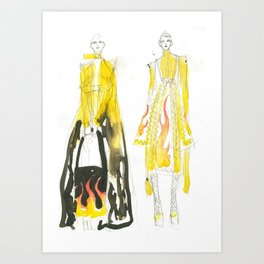 Yellow outfits Art Print
