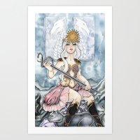 Queen of Wands Tarot Card Art Print