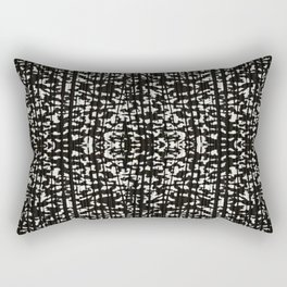 Black and White Grunge Tonal Print Rectangular Pillow