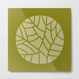 abstract round on olive background Metal Print