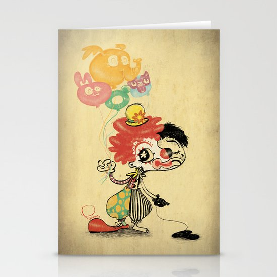 The Clown / Balloons / Facade Stationery Cards