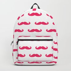 Mustaches For Girls - Pink Mustaches Backpack