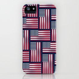 USA Baseball Flag iPhone Case