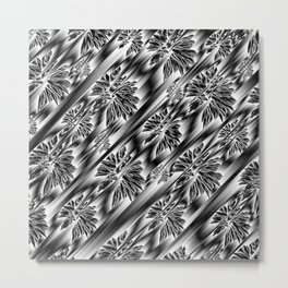 abstract pattern in metal Metal Print