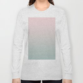 Simply Pink & Mint Color Gradient - Mix And Match With Simplicity of Life Long Sleeve T-shirt