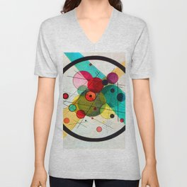 Kandinsky Circles in a Circle Unisex V-Neck