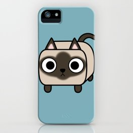 Cat Loaf - Siamese Kitty with Crossed Eyes iPhone Case
