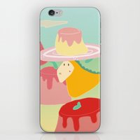 dessert iPhone & iPod Skins featuring Dessert by Loezelot