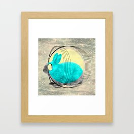 hypnotic rabbit Framed Art Print