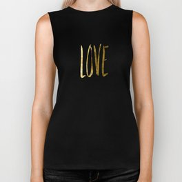 Love —gold Biker Tank