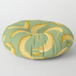 Bananas Pattern - green Floor Pillow