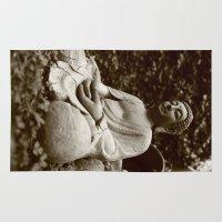 buddha Area & Throw Rugs featuring Buddha by Falko Follert Art-FF77
