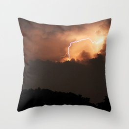 Thai Lightning Storm Throw Pillow