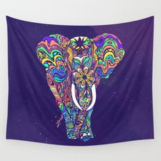 Not a circus elephant Wall Tapestry