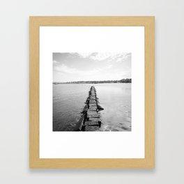 Rye Beach Framed Art Print