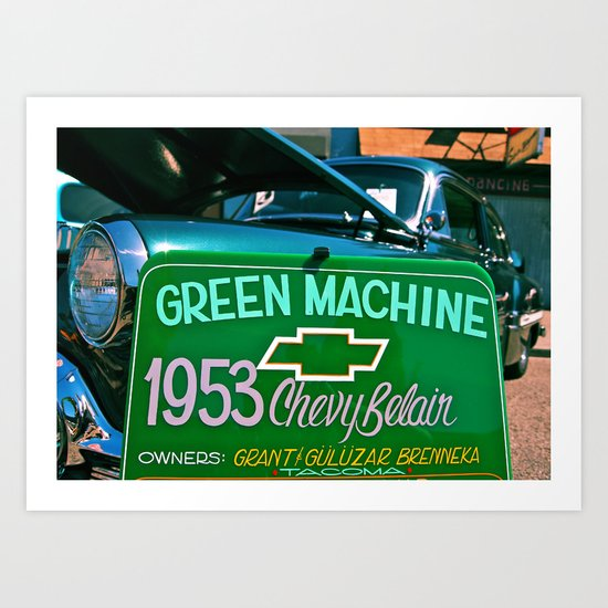 Green Machine Art Print
