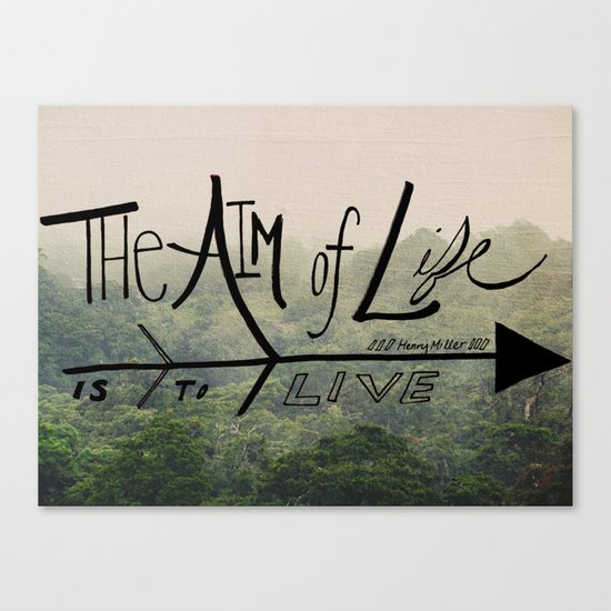 The Aim of Life Canvas Print