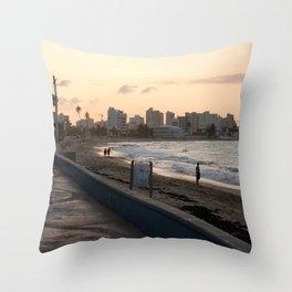 Sunset in San Juan Throw Pillow