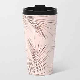 Tropical Leaves 8 Metal Travel Mug