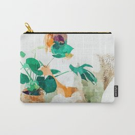Me + Monstera #painting #minimal Carry-All Pouch