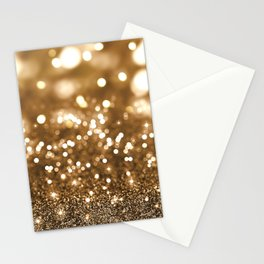 Pure Gold - Christmas Gold Glitter Stationery Cards