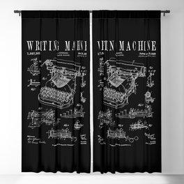 Typewriter Writing Machine Vintage Writer Patent Blackout Curtain