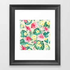 Tropical Pattern Framed Art Print